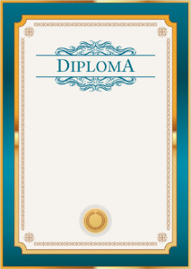 Diploma template «Petrol in gold»