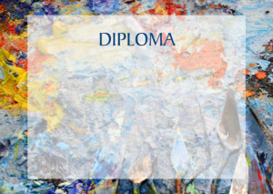 Diploma template «Artist's Oil Colours»