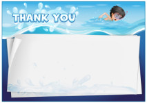 Thank You Card template «Swimming pool»