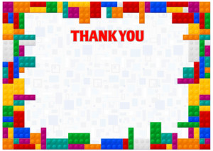 Thank You Card template «Colors of childhood»