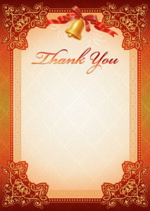 Thank You Card template «School bell»