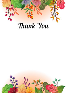 Thank You Card template «Autumn fairy tale»