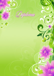 Diploma template «Spring color»