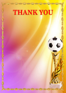 Thank You Card template «Football»