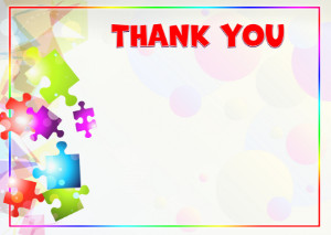 Thank You Card template «Kaleidoscope of colors»