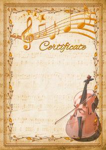 Certificate template «Double bass»