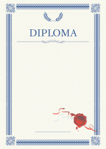 Diploma template «Laurel»