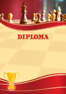 Diploma template «Chess»