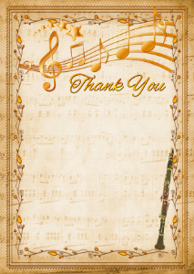 The Thank You Card template «Clarinet»