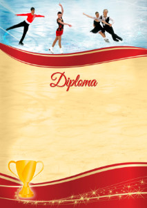 Diploma template «Figure skating»