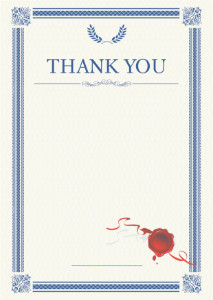 Thank You Card template «Laurel»