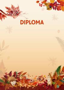 Diploma template «Autumn games»