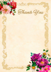Thank You Card template «Summer smell»