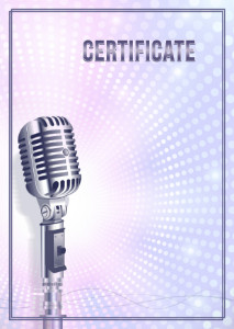 Certificate template «My voice»