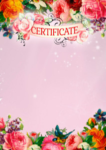 Certificate template «Spring mood»