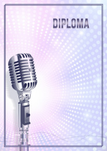Diploma template «My voice»
