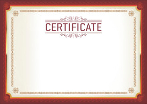 Certificate template «Agreement»
