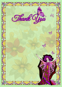 Thank You Card template «Harmony»