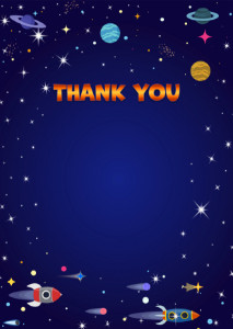 Thank You Card template «Space flight»