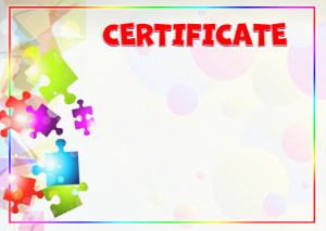 Certificate template «Kaleidoscope of colors»