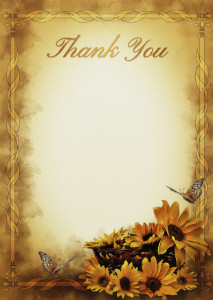 The Thank You Card template «Warmth of the day»