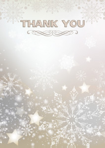 Thank You Card template «Snowflakes»