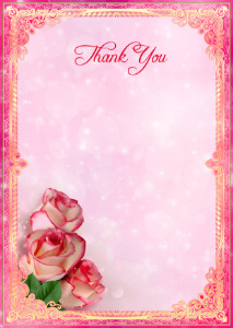 Thank You Card template «Delicate flavor»