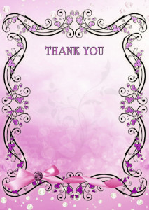 The Thank You Card template «Lilac vintage»