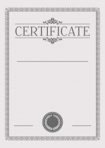 Certificate template «In gray tones»