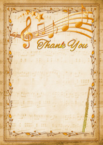 Thank You Card template «Flute»