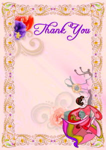 Thank You Card template «Handicraft world»