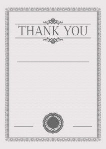 Thank You Card template «In gray tones»