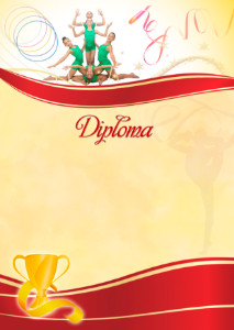 The Diploma template «Rhythmic gymnastics»