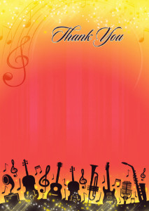 Thank You Card template «Juicy sound»