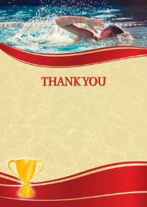 Thank You Card template «Sport swimming»