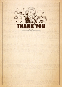 Thank You Card template «Beethoven»