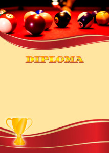 Diploma template «Billiards»