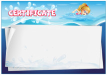 Certificate template «Swimming pool»