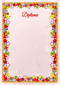 The Diploma template «Spring flowers»