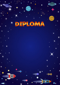 Diploma template «Space flight»