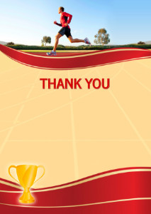 Thank You Card template «Running»
