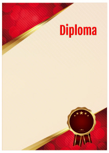 Diploma template «Shine ruby»