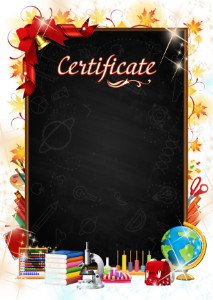 Certificate template «Autumn day»