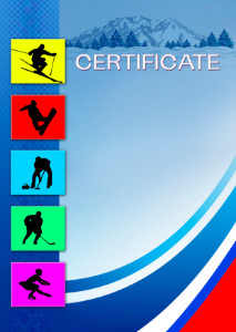 The Certificate template «Winter sports»