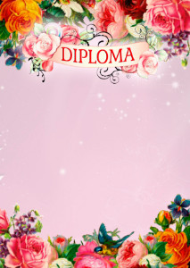 The Diploma template «Spring mood»