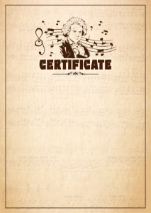 Certificate template «Beethoven»