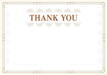 Thank You Card template «Plot»