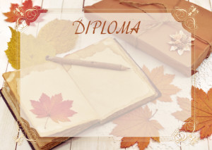 Diploma template «Warm autumn»