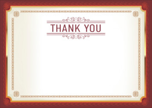 Thank You Card template «Agreement»
