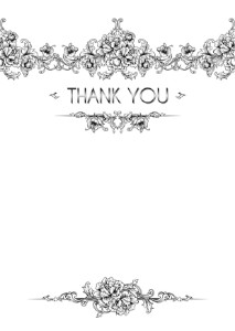 The Thank You Card template #208